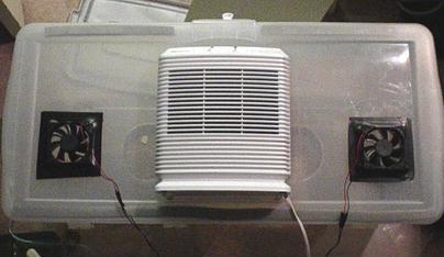 glovebox air input
