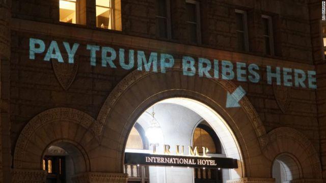trump bribes