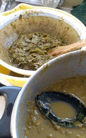 sieve the boiled san pedro