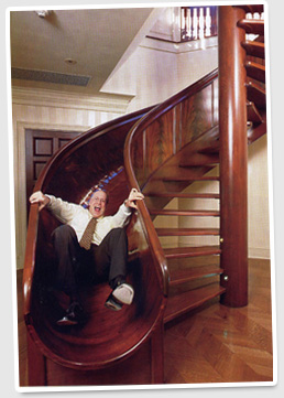 circular stair slide general discussions mycotopia. Black Bedroom Furniture Sets. Home Design Ideas