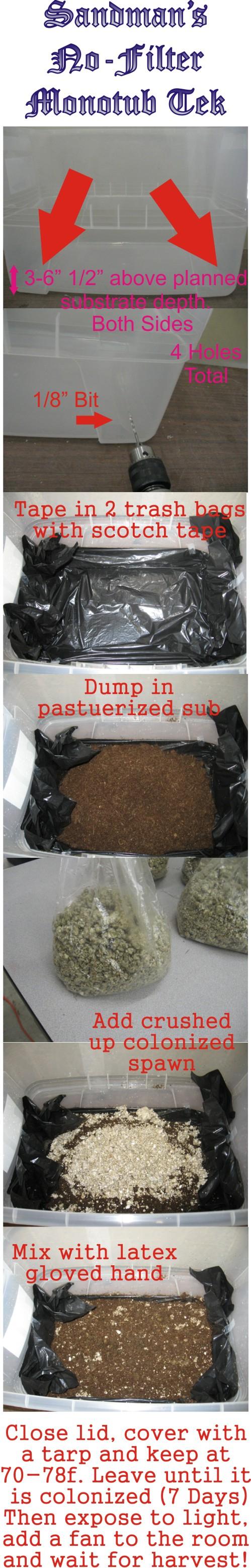 Sandman's No-Filter Monotub Tek - Page 2 - Mushroom Grow Logs