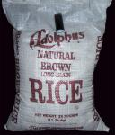 25lb bag of long grain brown rice from bulk foods.jpg
